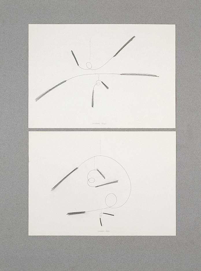 Studio per Macchine inutili, 1947 matita su carta, cm 29,7x21h