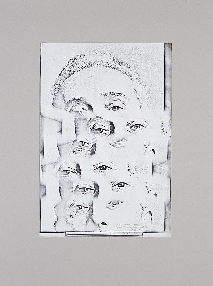 Xerografia originale, 1970 cm 25x37h