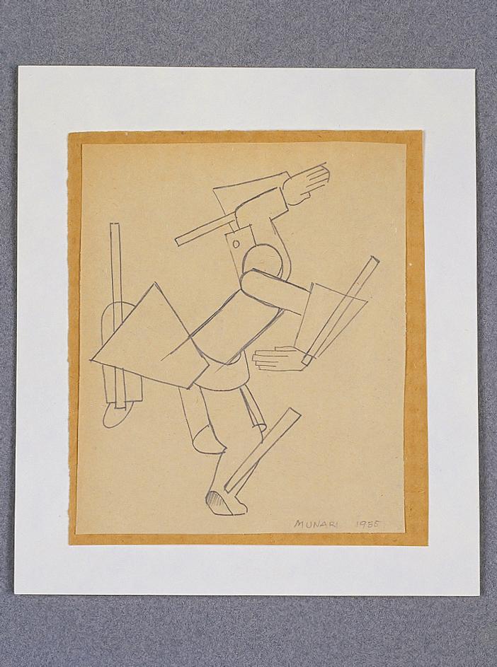 Senza titolo, 1935 matita su carta applicata su cartoncino cm 13,5x15,5h