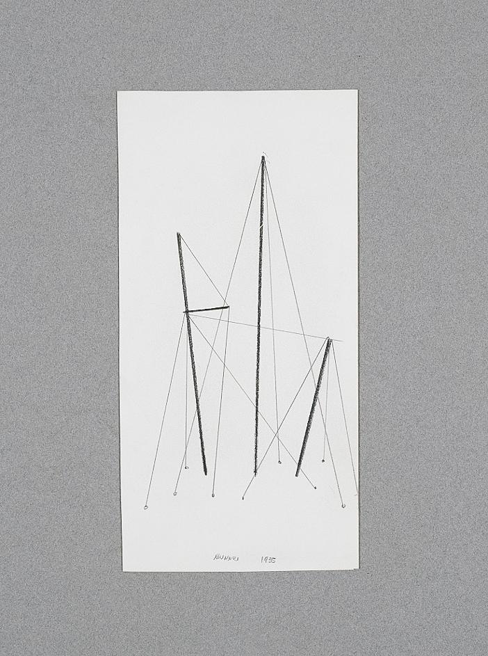Tensioni, 1935 matita su cartoncino cm 12x24h