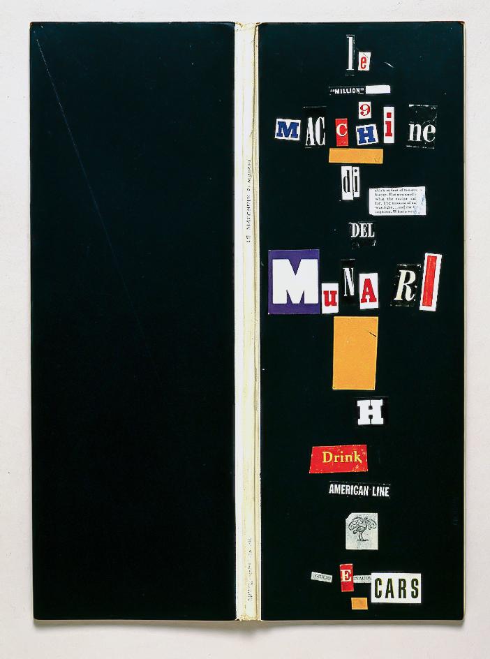 Le macchine di Munari, 1941 progetto per il primo libro di Bruno Munari cm 12,5x34,5x1