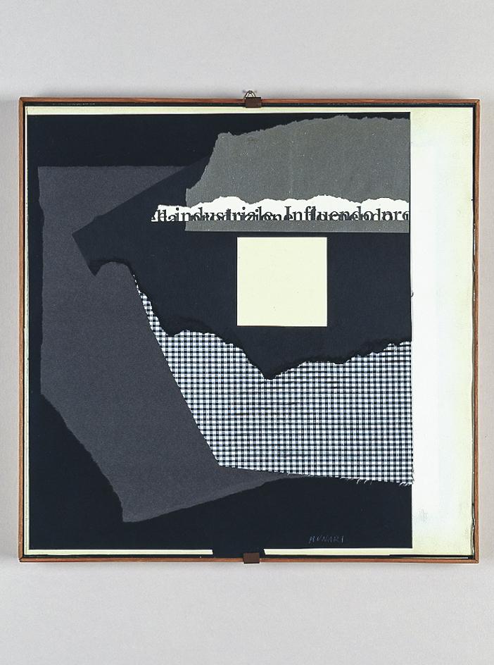 Collage, 1953 cartoncino, stoffa e carta su cartoncino, cm 28,5x28,5