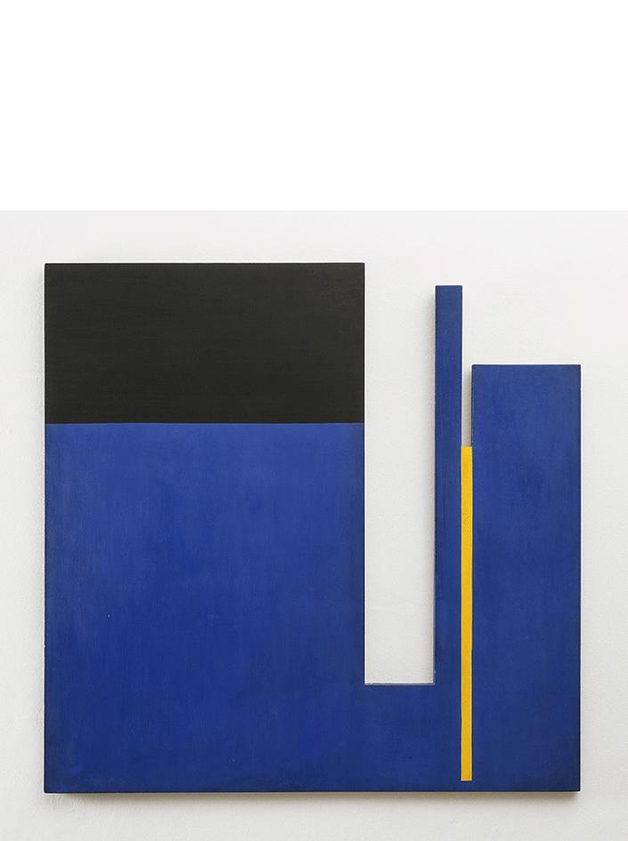 Negativo-positivo, 1953 olio su tavola, cm 100x100
