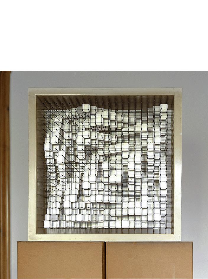 744, 1964 alluminio, ottone, acciaio cm 70x27x70