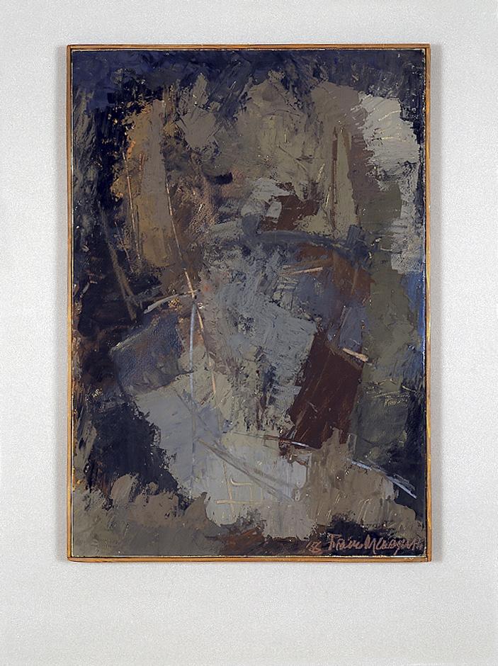 Senza titolo, 1956 tempera su carta intelaiata  cm 50,5x70h