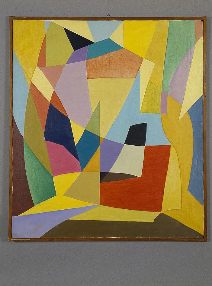 Senza titolo, 1952 olio su tela cm 91x101h