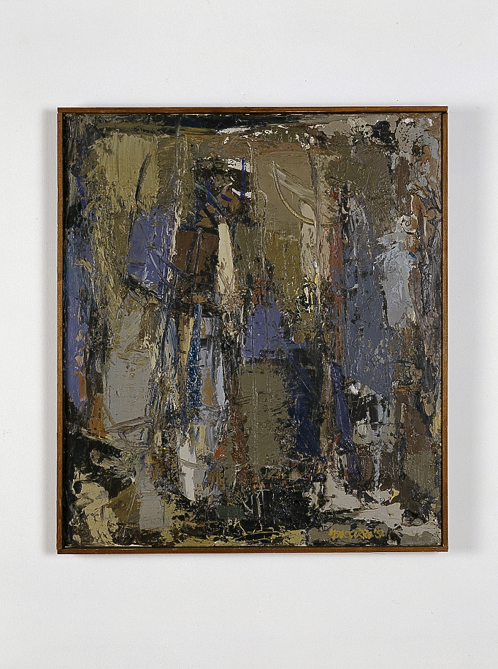 Senza titolo, 1957 olio su tela cm 44x49h